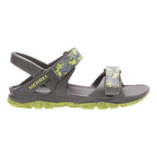 Merrell Hydro Drift Sandals Shoe - Grey/Lime 12C