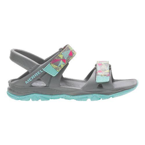 Merrell Hydro Drift Sandals Shoe - Grey/Multi 3Y