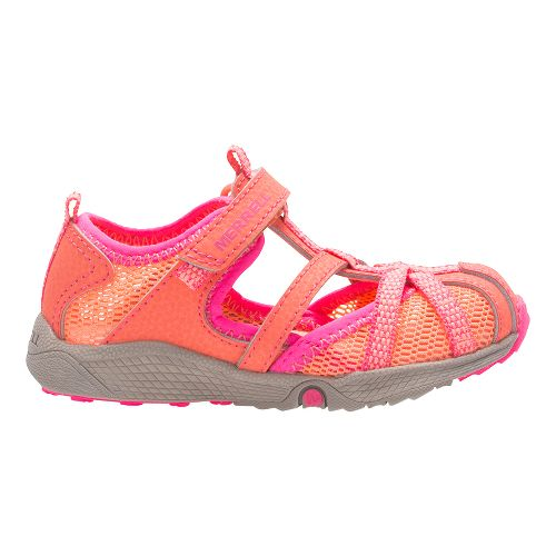 Merrell Hydro Monarch Junior Sandals Shoe - Coral 10C