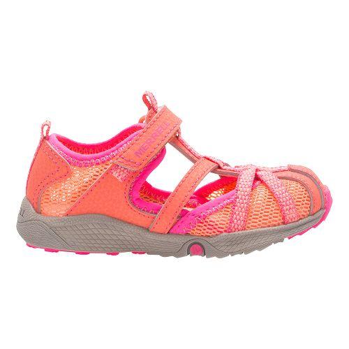 Merrell Hydro Monarch Junior Sandals Shoe - Coral 6C