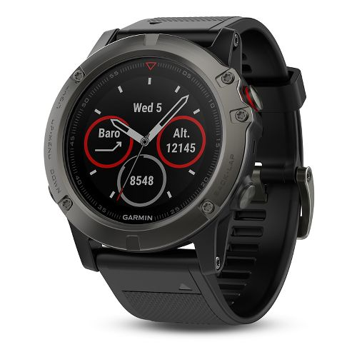 Garmin fenix 5X Sapphire Watch Monitors - Slate Grey/Black