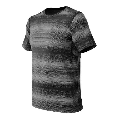 Mens New Balance Kairosport Tee Short Sleeve Technical Tops - Heather Charcoal L