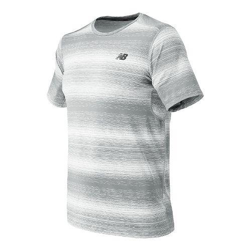 Mens New Balance Kairosport Tee Short Sleeve Technical Tops - Silver Mink Heather S