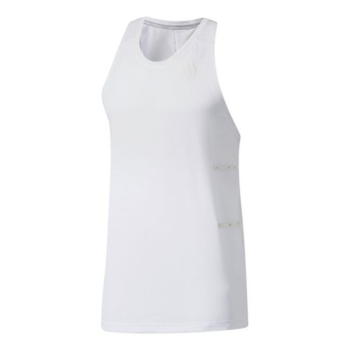 Mens Adidas Supernova 98.6 Degree F Sleeveless & Tank Tops Technical Tops - White M ...