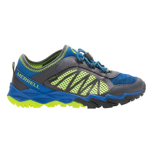 Merrell Hydro Run 2.0 Trail Running Shoe - Blue/Grey/Citron 6.5Y