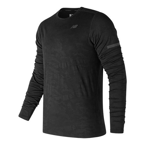 Mens New Balance Max Intensity Long Sleeve Technical Tops - Black L