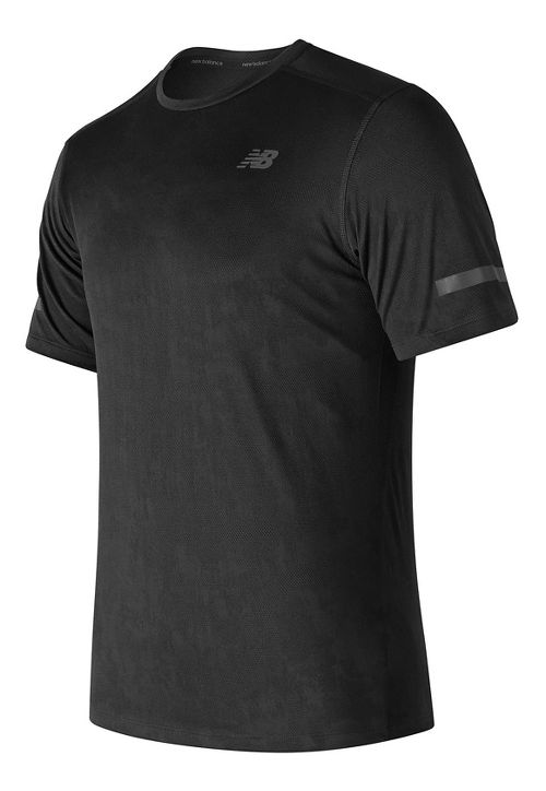 Mens New Balance Max Intensity Short Sleeve Technical Tops - Black L
