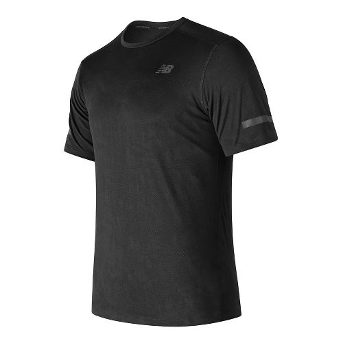 Mens New Balance Max Intensity Short Sleeve Technical Tops - Black S