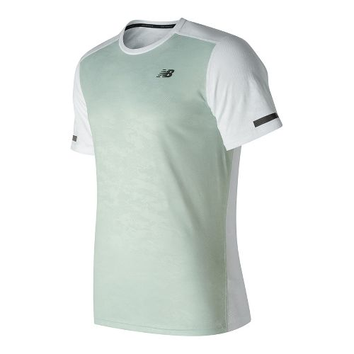 Mens New Balance Max Intensity Short Sleeve Technical Tops - White XXL