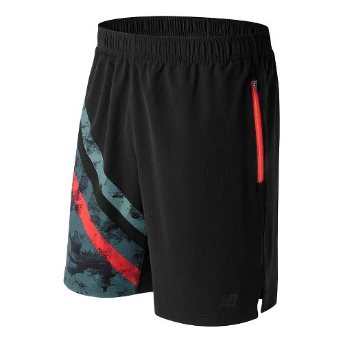 Mens New Balance Max Intensity Unlined Shorts - Black Print L