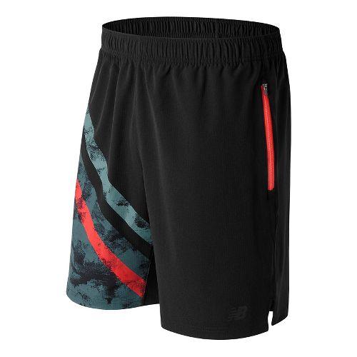 Mens New Balance Max Intensity Unlined Shorts - Black Print M