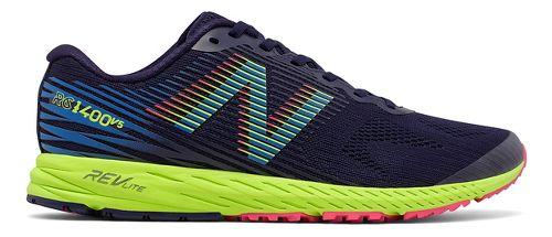 Mens New Balance 1400v5 Running Shoe - Dark Blue/Lime 8.5