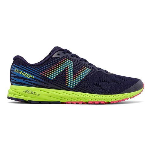 Mens New Balance 1400v5 Running Shoe - Dark Blue/Lime 10.5
