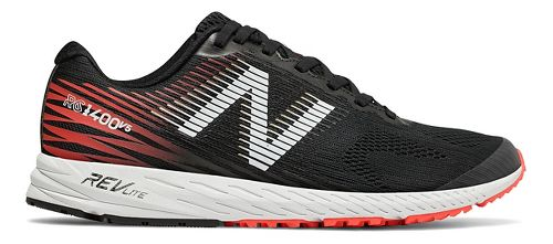 Mens New Balance 1400v5 Running Shoe - Black/Flame 14