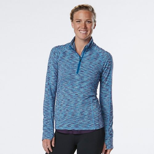 Womens R-Gear Ready To Go Half-Zips & Hoodies Technical Tops - Marina/Sea Glass L