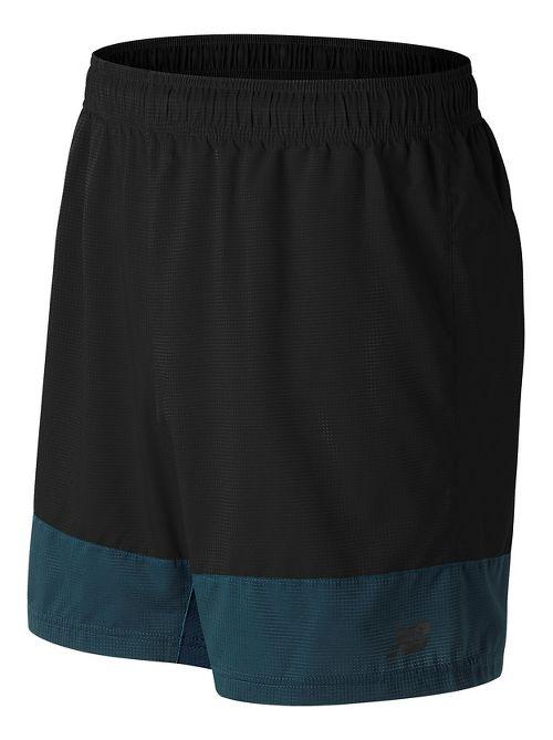 Mens New Balance Hybrid Tech Unlined Shorts - Black XL