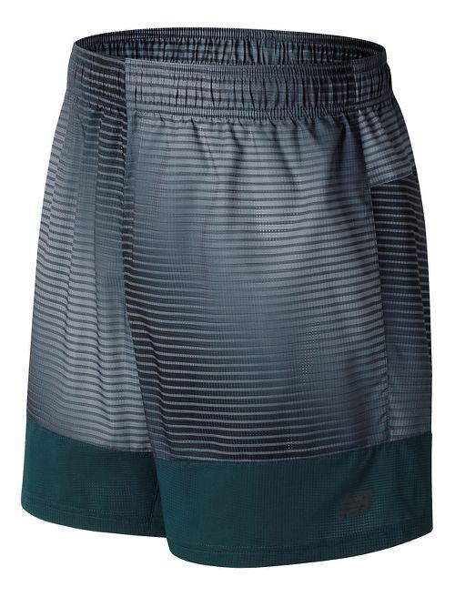 Mens New Balance Hybrid Tech Unlined Shorts - Black Print XL