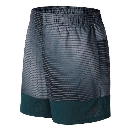 Mens New Balance Hybrid Tech Unlined Shorts - Black Print L