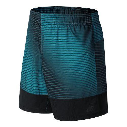 Mens New Balance Hybrid Tech Unlined Shorts - Deep Ozone Blue S