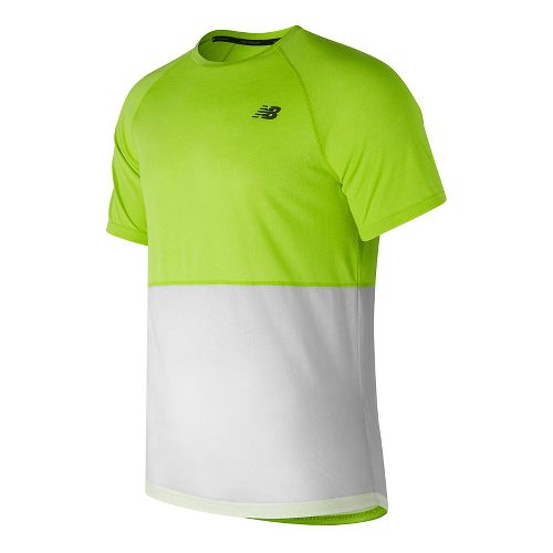 Mens New Balance CBK Breathe Short Sleeve Technical Tops - Hi-Lite Heather S