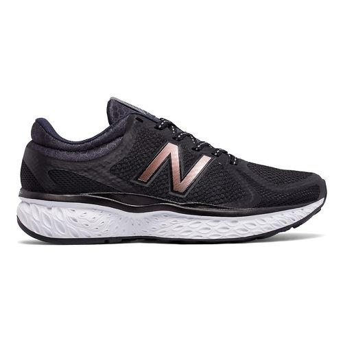 Womens New Balance 720v4 Running Shoe - Black/Rose Gold 10.5
