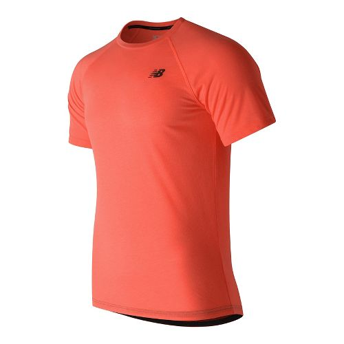 Mens New Balance Pindot Breathe Short Sleeve Technical Tops - Sunrise Heather XL