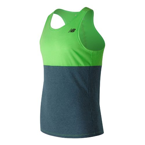 Mens New Balance CBK Breathe Sleeveless & Tank Technical Tops - Cactus Heather M