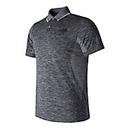Mens New Balance M4M Seamless Polo Short Sleeve Technical Tops
