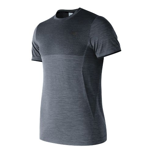 Mens New Balance M4M Seamless Short Sleeve Technical Tops - Athletic Grey M