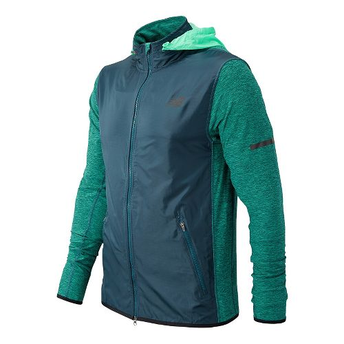 Mens New Balance N Transit Running Jackets - Supercell M