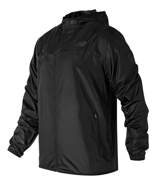 Mens New Balance Windcheater Cold Weather Jackets - Black L