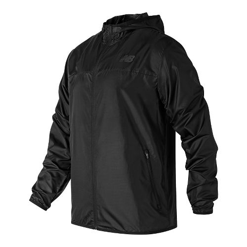 Mens New Balance Windcheater Cold Weather Jackets - Black L