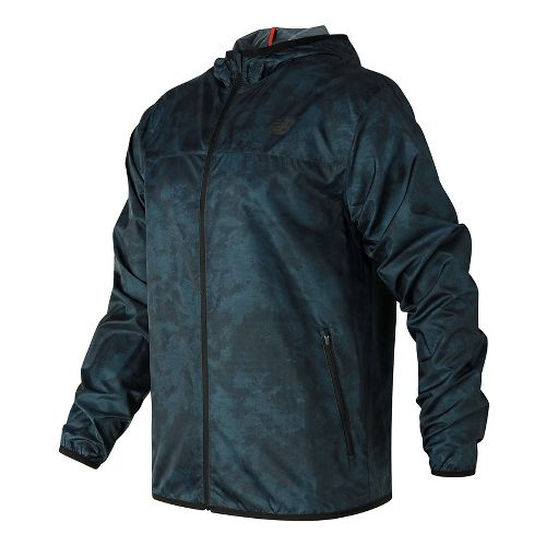 Mens New Balance Windcheater Cold Weather Jackets - Supercell Print L