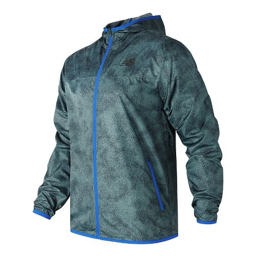 Mens New Balance Windcheater Cold Weather Jackets - Typhoon Print L