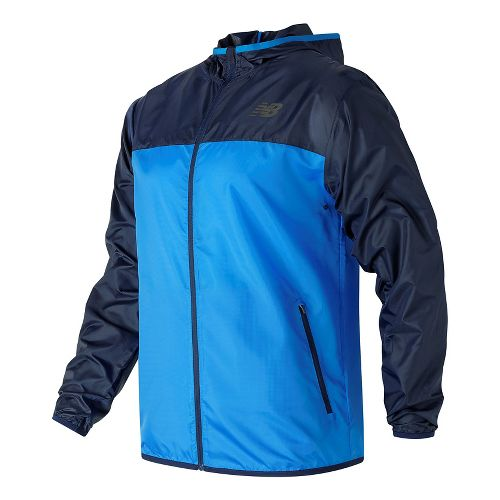 Mens New Balance Windcheater Cold Weather Jackets - Electric Blue L