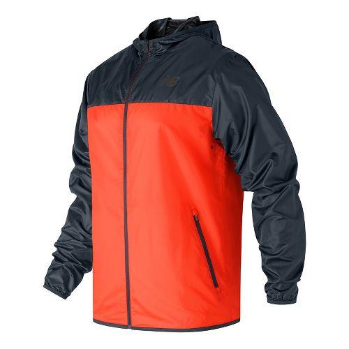 Mens New Balance Windcheater Cold Weather Jackets - Alpha Orange XL