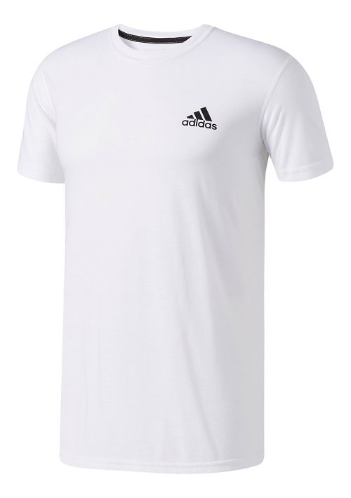 Mens adidas Ultimate Crew Tee Short Sleeve Technical Tops - White L