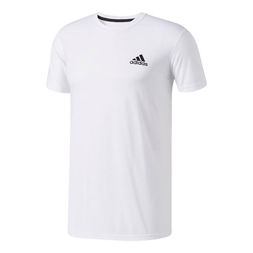 Mens Adidas Ultimate Crew Tee Short Sleeve Technical Tops - White XL