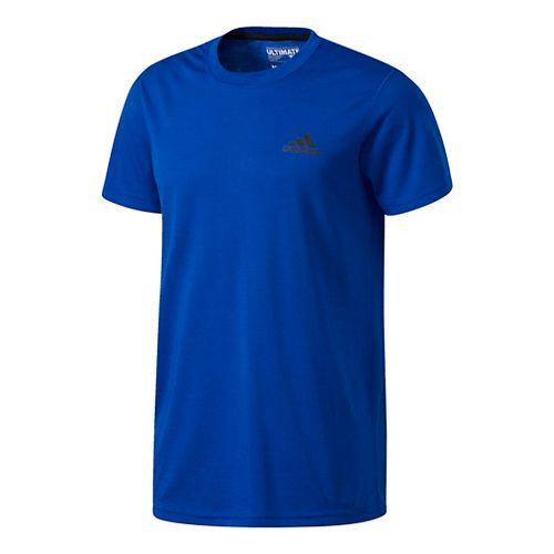 Mens Adidas Ultimate Crew Tee Short Sleeve Technical Tops - Royal L