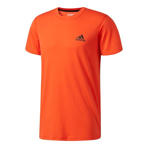 Mens Adidas Ultimate Crew Tee Short Sleeve Technical Tops - Energy L