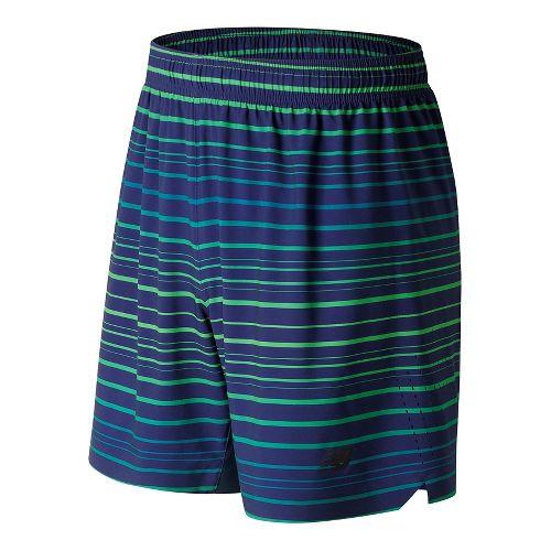 Mens New Balance Printed Shift Unlined Shorts - Blue Print S
