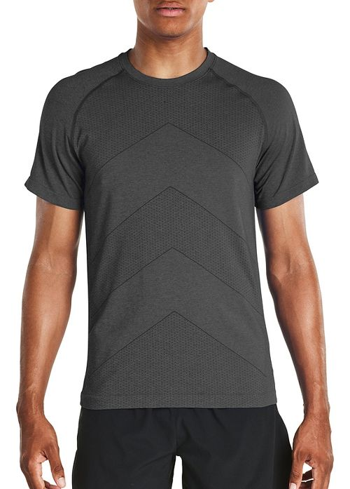 Mens Saucony Dash Seamless Short Sleeve Technical Tops - Carbon L