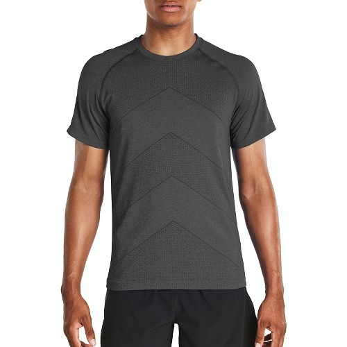 Mens Saucony Dash Seamless Short Sleeve Technical Tops - Carbon M