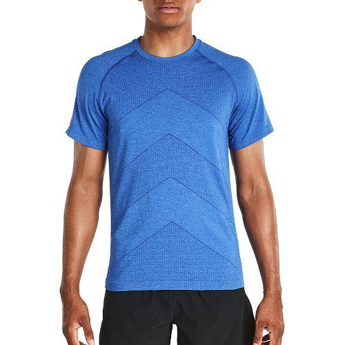 Mens Saucony Dash Seamless Short Sleeve Technical Tops - Varsity Blue L
