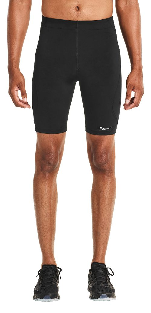 Mens Saucony Endorphin Half Tight Compression & Fitted Shorts - Black XXL