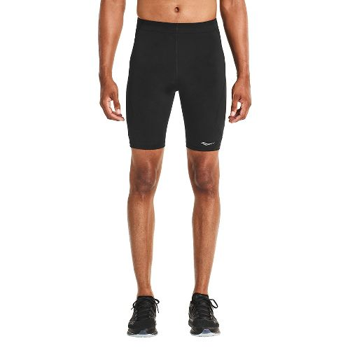 Mens Saucony Endorphin Half Tight Compression & Fitted Shorts - Black L