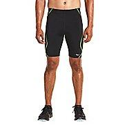 Mens Saucony Endorphin Half Tight Compression & Fitted Shorts - Black/VIZiPRO L