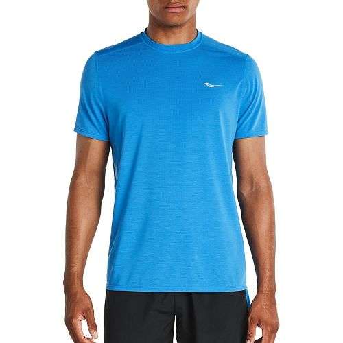 Mens Saucony Freedom Short Sleeve Technical Tops - Brilliant Blue S