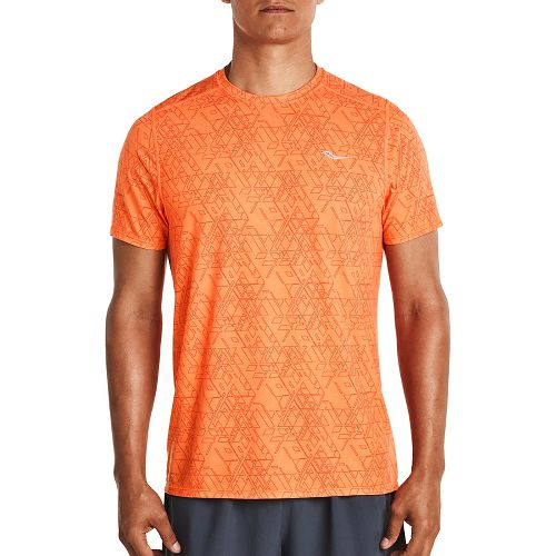 Mens Saucony Freedom Short Sleeve Technical Tops - VIZiPRO Orange L