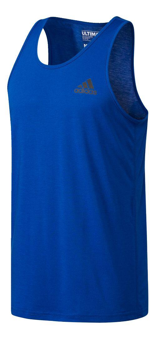 Mens Adidas Ultimate Sleeveless & Tank Tops Technical Tops - Royal L